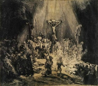 Rembrandt Christ Crucified Between Two Thieves